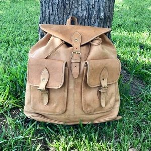 ✨XL Deertan Leather Rucksack Backpack Bag